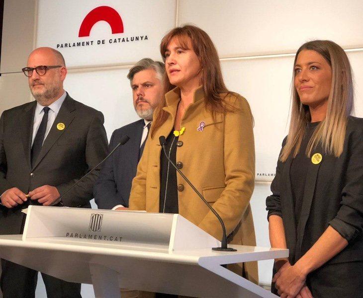 Laura Borràs está imputada por cuatro delitos | Fuente: Twitter