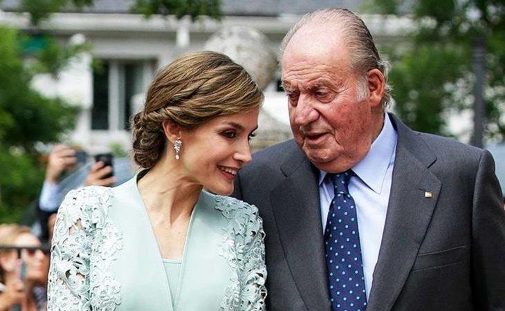 La reina Letizia y el emérito rey Juan Carlos