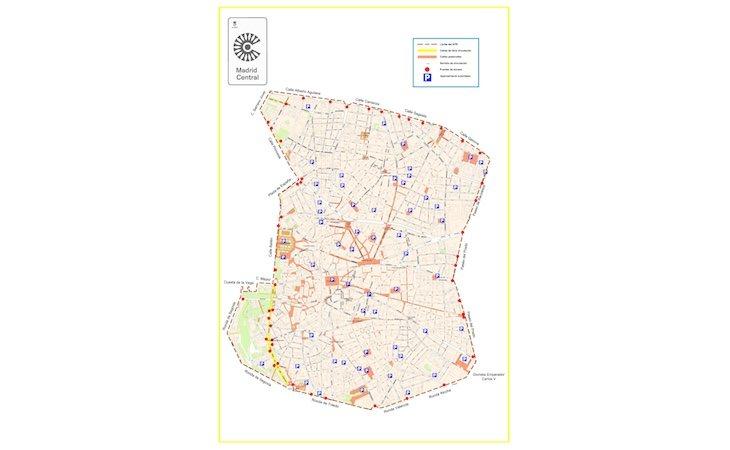 El área de Madrid Central solo comprende cinco kilómetros cuadrados