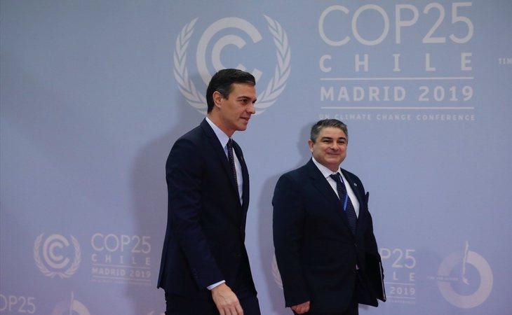 Pedro Sánchez en la inauguración de la Cumbre del Clima