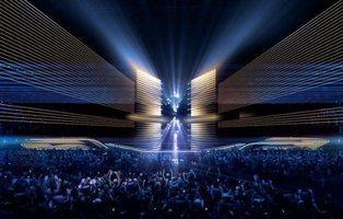 Vuelve la Green Room al escenario de Rotterdam: así es el escenario de Eurovisión 2020