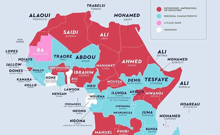 Apellidos más comunes en África