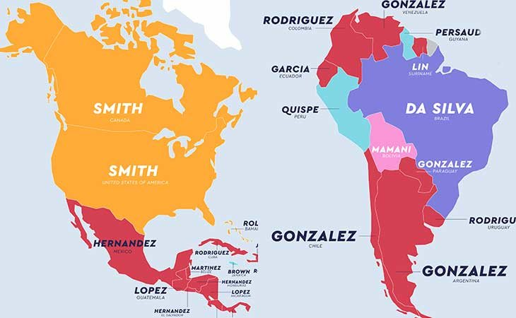 Apellidos más comunes en América