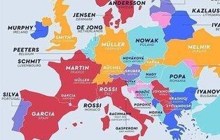 Hernández, Müller, Smith, Wang: el mapa de los apellidos más comunes de cada país del mundo