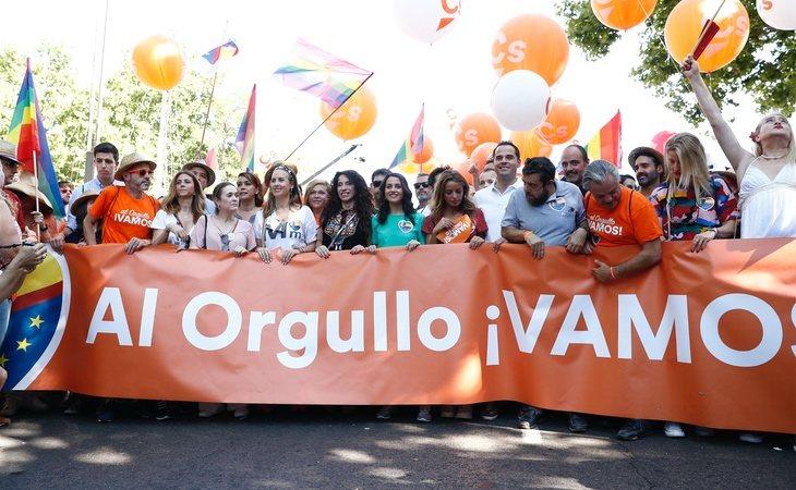 Ciudadanos en el Orgullo LGTBI de Madrid
