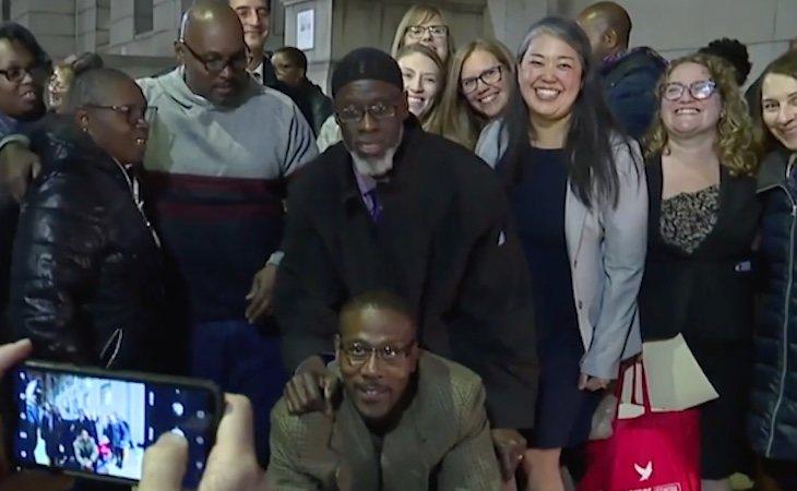 Los 'Tres de Baltimore' han sido recibidos por sus familias y gran cantidad de medios