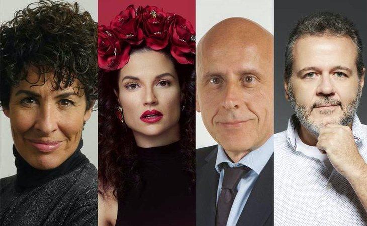 Nina, Natalia Jiménez, Javier Llano y Portu, jurado de 'OT 2020'