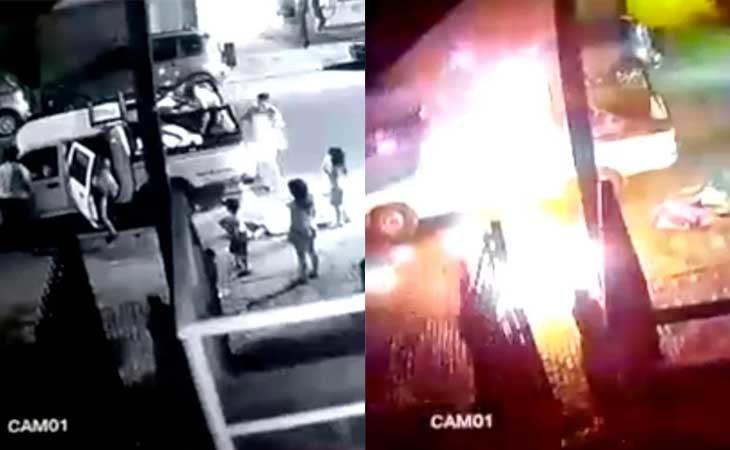 Imágenes de la explosión