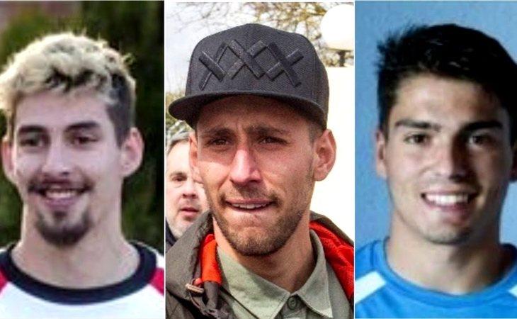 Carlos Cuadrado 'Lucho', Victor Rodríguez 'Viti' y Raúl Calvo, ex jugadores de La Arandina
