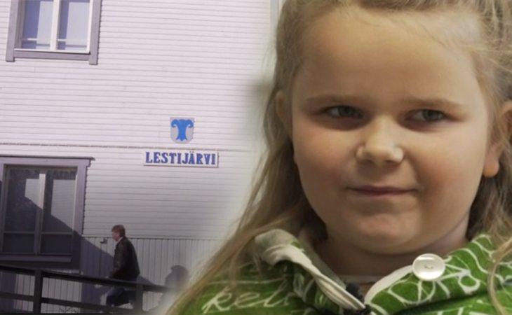 Kerttu Nevala, a la edad de 7 años, es la última habitante nacida en Lestijärvi antes de la implantación de la medida