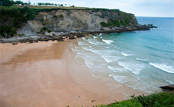 Playa de Mataleñas, zona donde desapareció Celia Cavia el pasado jueves 12 de diciembre de 2019