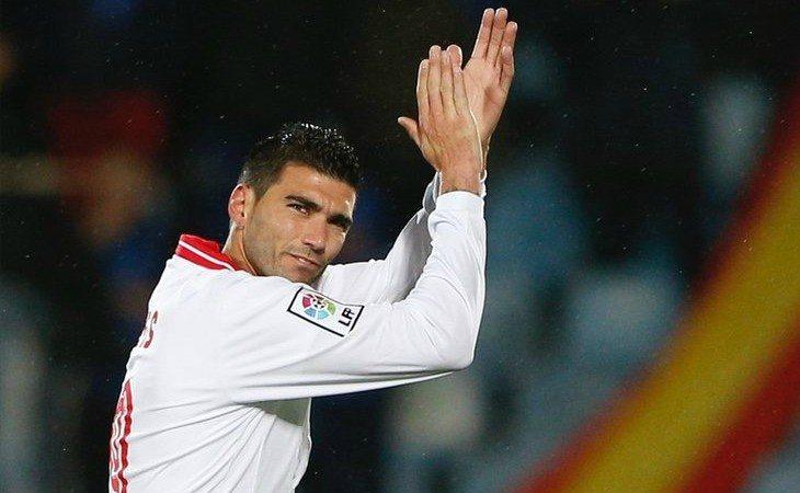 José Antonio Reyes durante un partido con el Sevilla F.C.