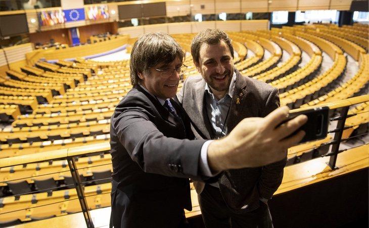 Carles Puigdemont ya ha hecho una visita al Parlamento Europeo
