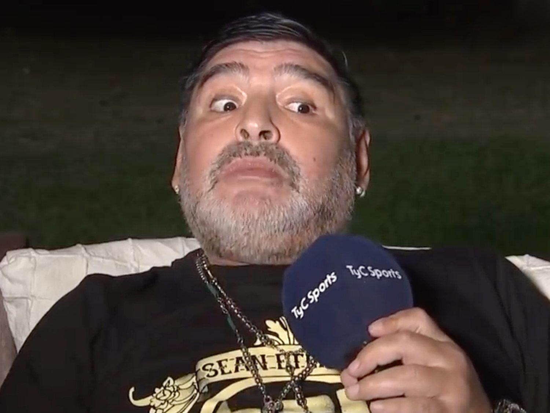 """La última de Maradona: """"Me llevaron los OVNIS, falté tres días en casa"""""""