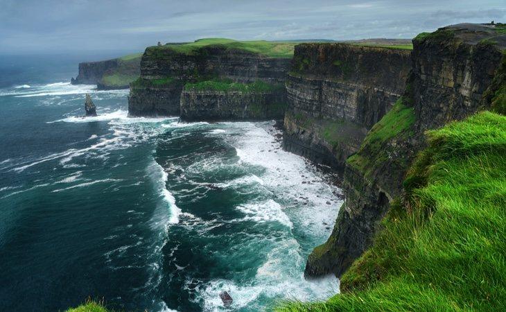 Los famosos acantilados de Irlanda
