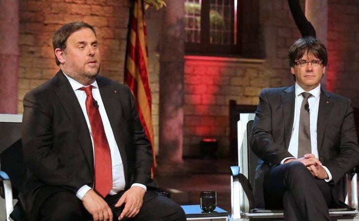 Puigdemont se ha beneficiado de la sentencia sobre Junqueras, pero el líder de ERC tiene problemas para adquirir su condición de eurodiputado porque tiene una sentencia | Premsa Generalitat de Catalunya
