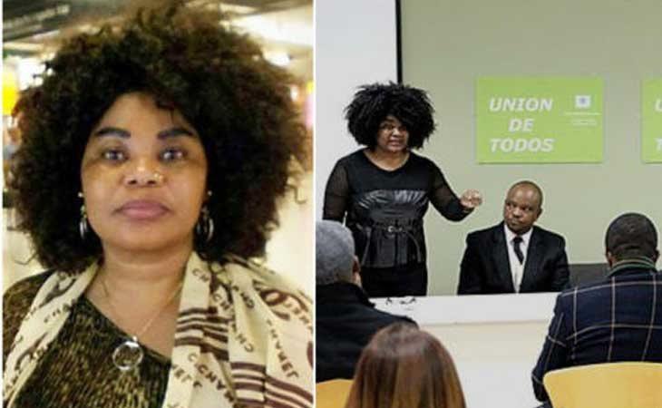 La mujer detenida dando conferencias ONU-Mujeres