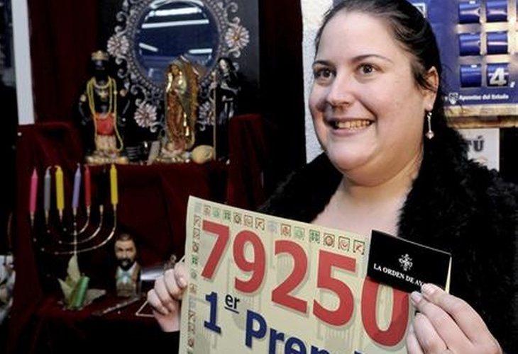 Victoria Braojos ganó el Gordo en el año 2010