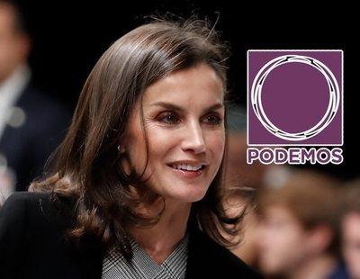 La reina Letizia, la única de la Familia Real que aprueba entre los votantes de Podemos