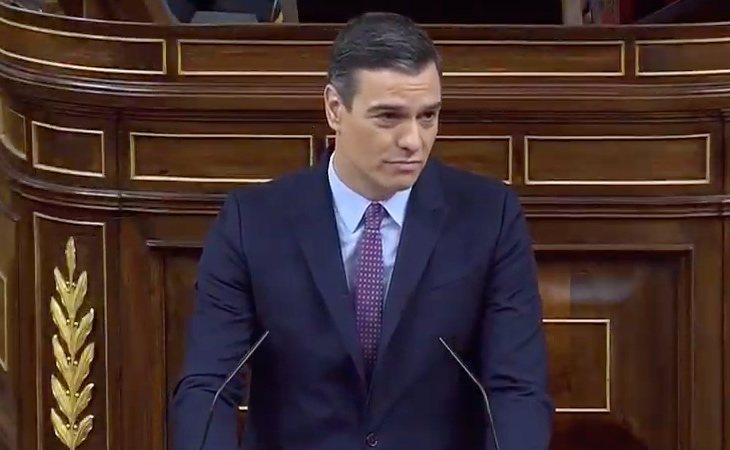 Pedro Sánchez comienza su discurso asegurando que 'no se va a romper España, sino el bloqueo'.