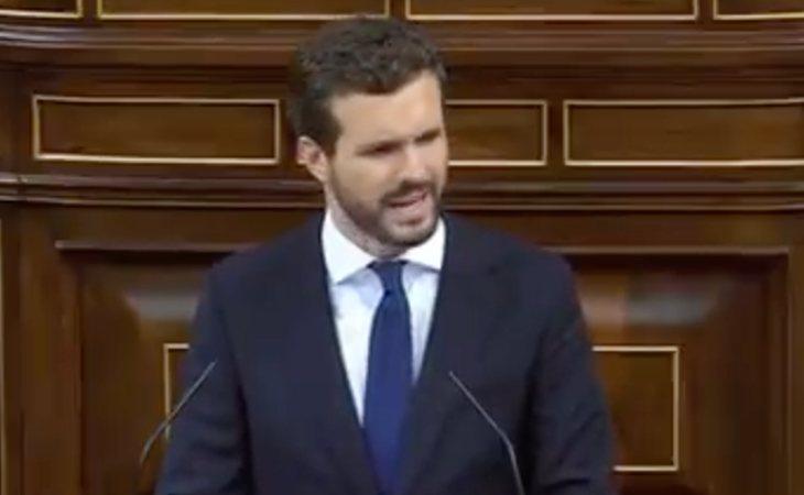 Pablo Casado, a Sánchez: 'Patético que haya tenido que empezar diciendo que España no se va a romper'