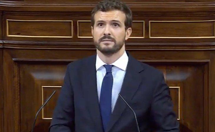 Pablo Casado (PP), a Sánchez: 'Este es el acuerdo que ha querido y deseado, no el que no le ha quedado más remedio'