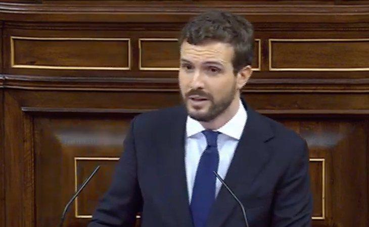 Pablo Casado (PP): 'Este es un Gobierno contra el Estado. El más radical, con asesores de dictadores bananeros y comunistas. Y lo pretende llamar ...