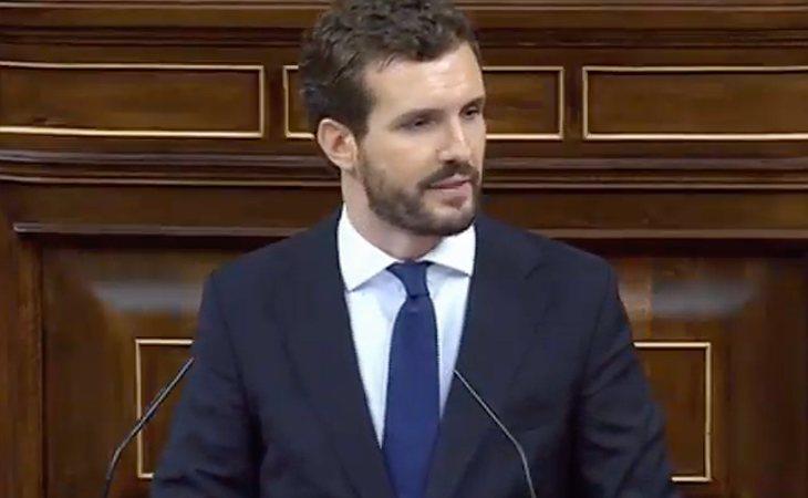 Pablo Casado (PP) anuncia la barbarie: 'Su discurso de hoy daba miedo. Hemos escuchado un guerracivilismo que no veíamos desde hace tiempo'