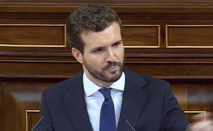 Casado acusa a Sánchez que querer acabar con la España constitucional