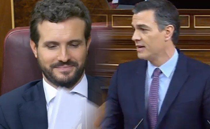 Pedro Sánchez (PSOE) a Pablo Casado (PP): 'Ustedes no se abstienen porque cuanto peor, mejor'