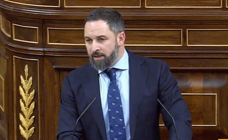 Santiago Abascal (VOX) comienza su intervención: 'Quim Torra debe ser detenido'