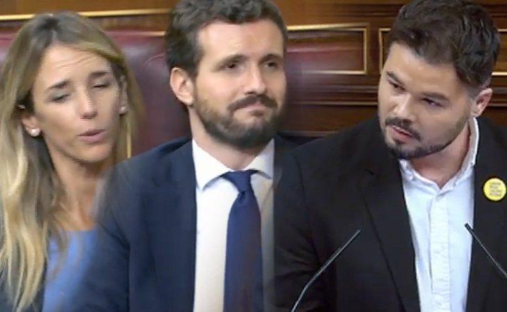 Gabriel Rufián (ERC) a Pablo Casado y Cayetana Álvarez de Toledo (PP): 'Está claro que los colegios de pago no te hacen más educado'