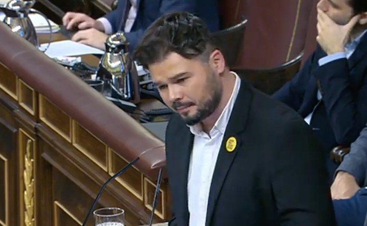 Gabriel Rufián (ERC): 'Cada vez que un progresista se ha callado ante las amenazas de la derecha, se ha perdido un derecho'