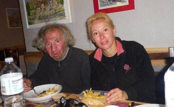 Sandrine junto a Marcel