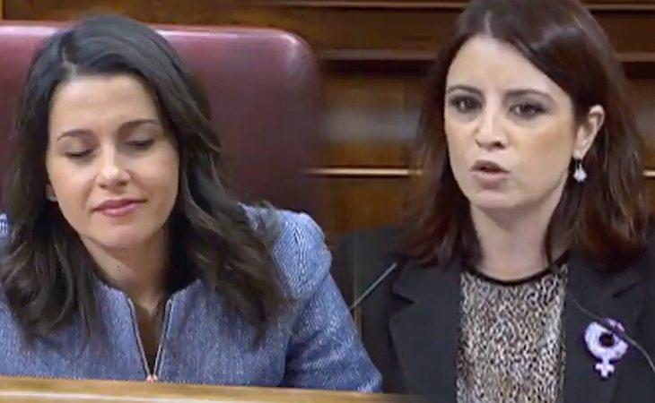 Adriana Lastra (PSOE), a Inés Arrimadas (Cs): 'En la política hay algo peor que estar en la oposición y es estar en la irrelevancia'
