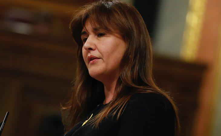 Laura Borràs (JxCat) vota NO a la investidura de Pedro Sánchez