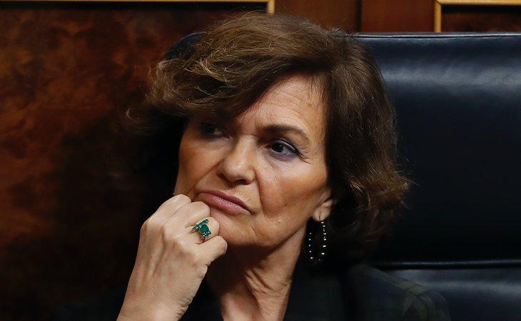 Carmen Calvo (PSOE) vota SÍ a la investidura de Pedro Sánchez