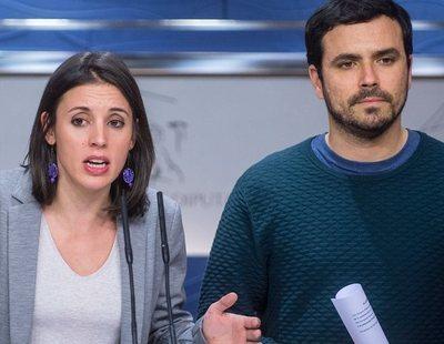 Irene Montero, Alberto Garzón, Yolanda Díaz y Manuel Castells, los ministros de Unidas Podemos