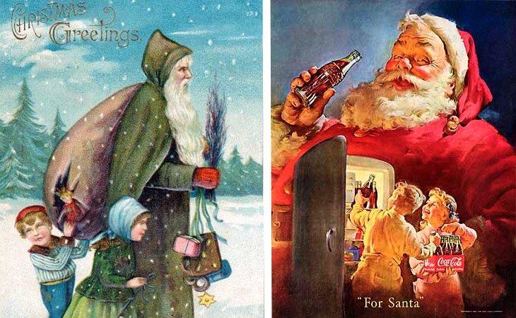 San Nicolás y su reinterpretación en Papá Noel realizada por Coca-Cola en 1931