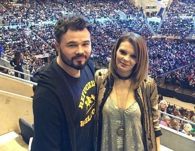 """La 'ex' de Rufián estalla en redes sociales: """"Lloro al saber que no podré recuperarle"""""""
