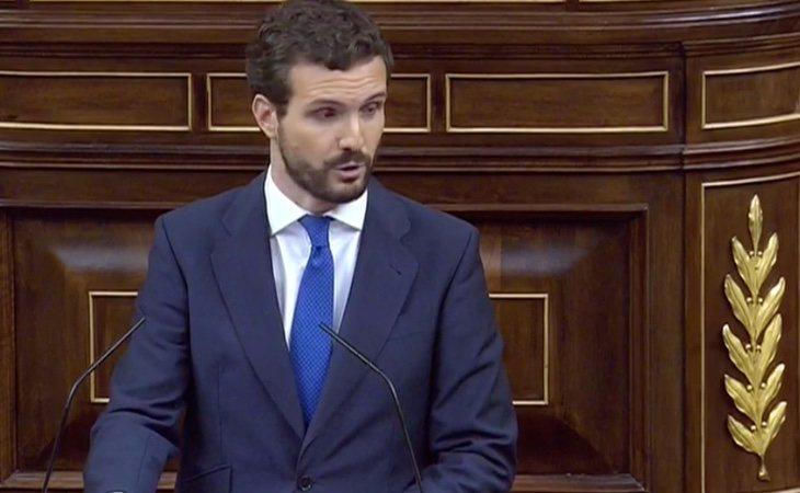 Pablo Casado: 'Nuestra democracia tiene dos enemigos: los terroristas y golpistas. Hoy ha puesto al país en sus manos'