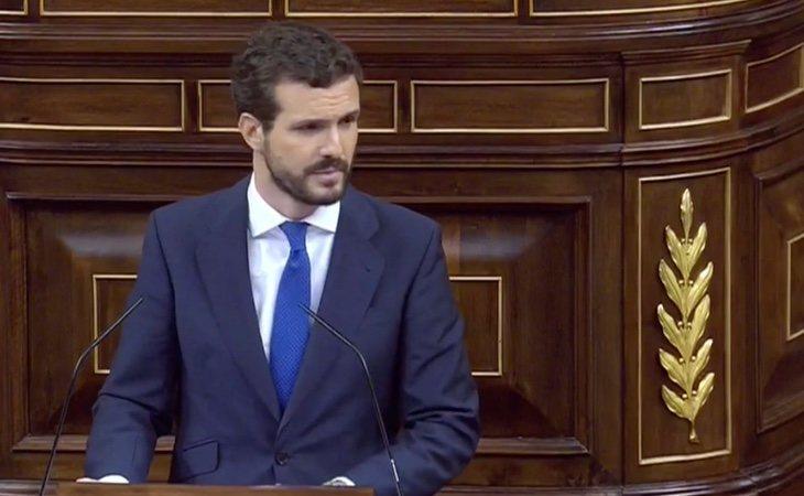 Casado califica al Gobierno de Sánchez como 'ultra' y al líder socialista como 'hombre de paja del nacionalismo'