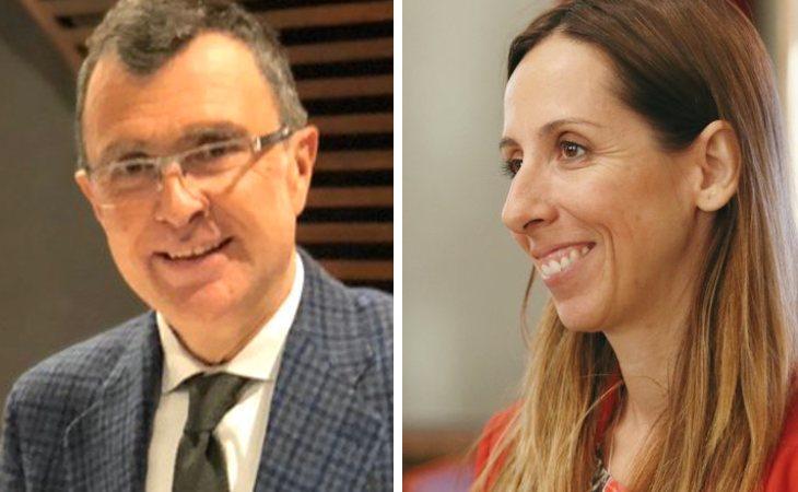 José Ballesta (PP), alcalde de Murcia, y Esther Nevado, concejala socialista que ha denunciado