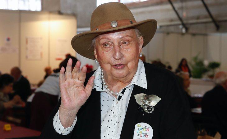 Pilar de Borbón en su última participación en el Rastrillo solidario Nuevo Futuro