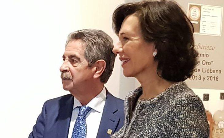Miguel Ángel Revilla y Ana Botín
