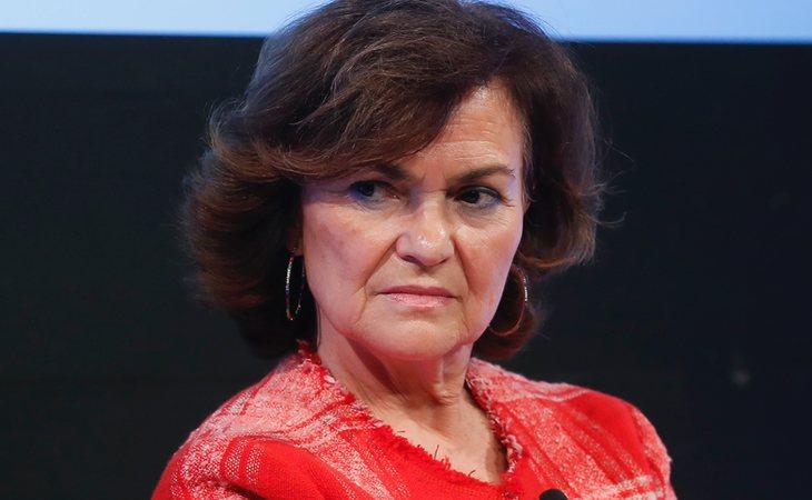 Carmen Calvo, vicepresidenta, relaciones con las Cortes y Memoria Democrática