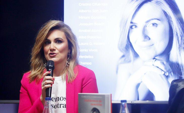 Carlota Corredera en la presentación de su libro, 'Hablemos de nosotras'