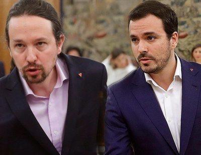 Qué significa el pin de Pablo Iglesias y Alberto Garzón en la toma de posesión ante el rey