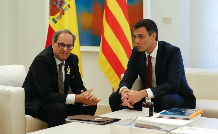 Quim Torra y Pedro Sánchez reunidos en La Moncloa