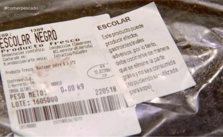 Etiquetado del pez mantequilla